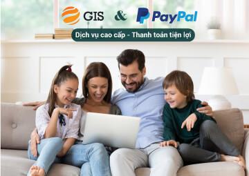 PayPal đánh giá GIS là một đối tác tuyệt vời, bởi chất lượng dịch vụ cao cấp và lượng khách hàng giao dịch quốc tế rất tiềm năng